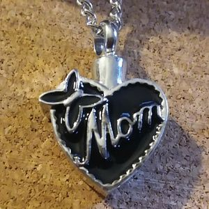 "Jewelry - Sale**""Mom"" cremation urn necklace"